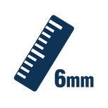 6 mm Ruler Icon